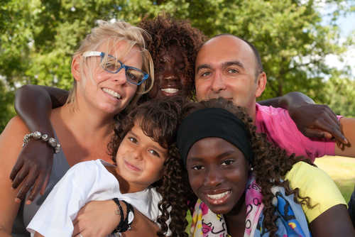 Multicultural Foster Parent Family